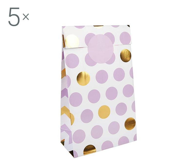 Set 5 omotnica za vjenčanje Pattern Works Dots Lilac