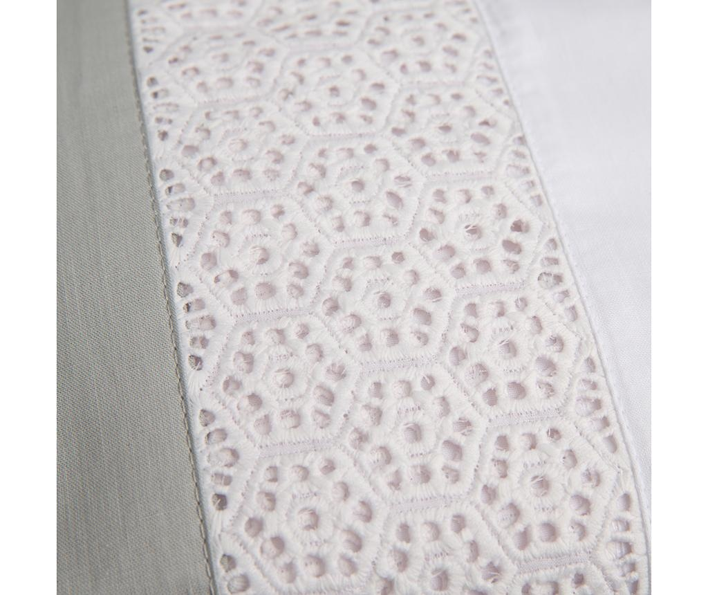 Lenjerie de pat Double Pique Panel Grey