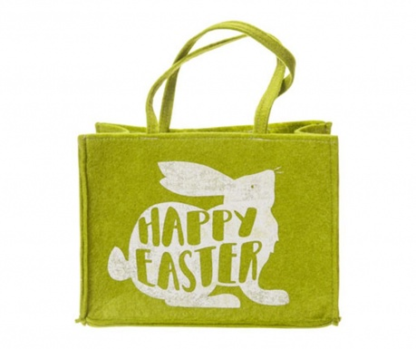 Torba na zakupy Happy Easter Green