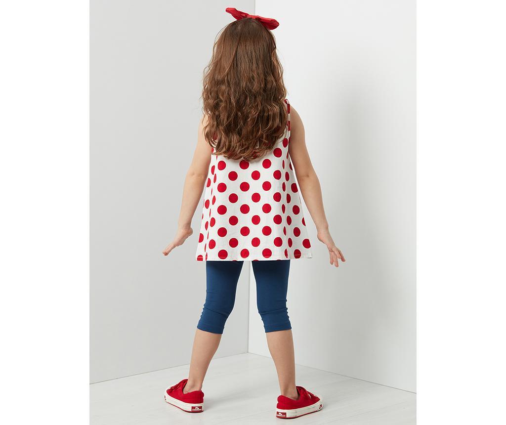 Otroški komplet - tunika in tričetrt pajkice Lily Dotted 7 years