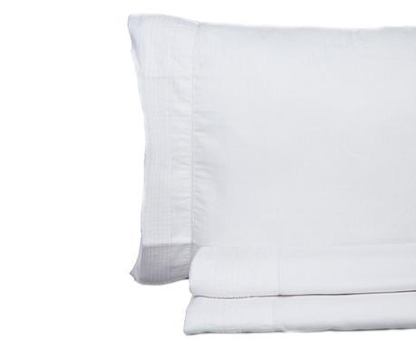 Set posteljina Double Pique Vainica White