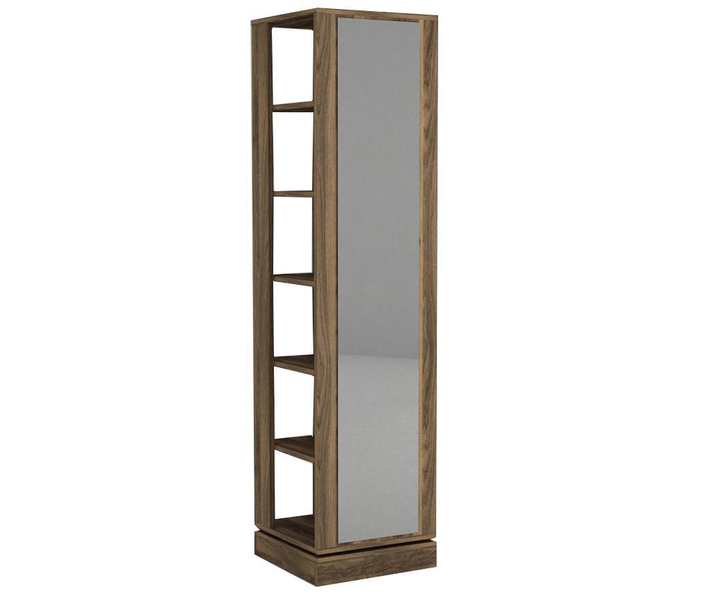 Obešalnik z omaro za čevlje in ogledalom Roll