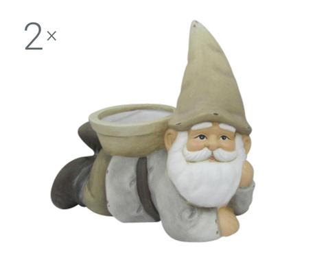 Zestaw 2 osłonek na doniczkę Dwarf