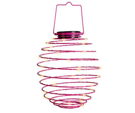 Lampa solarna Spiral Pink