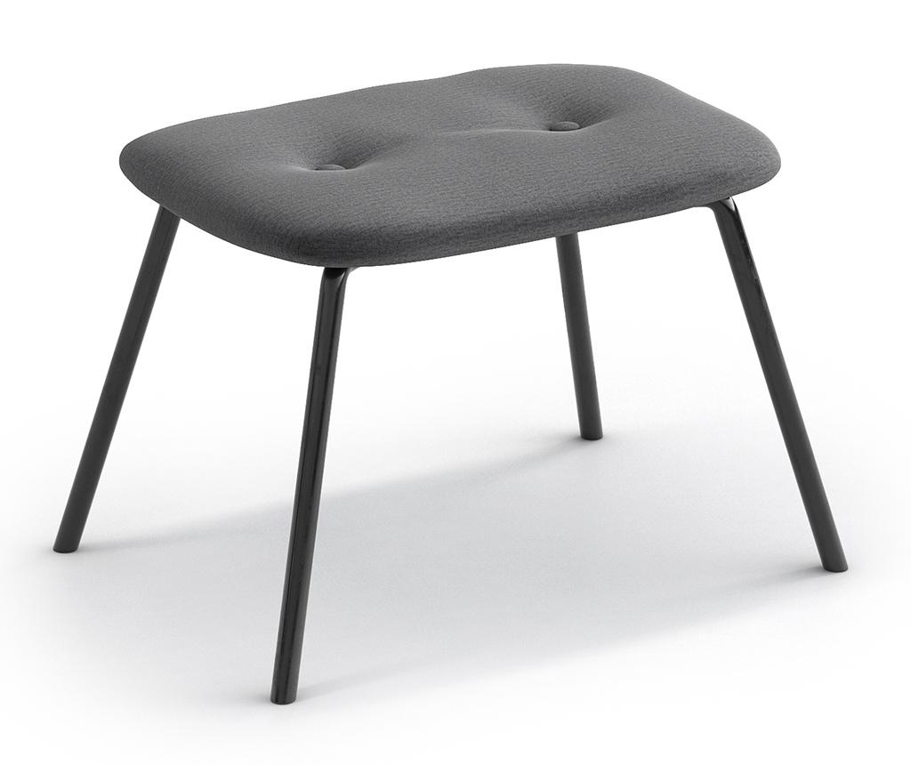 Taburet pentru picioare Tilda Monolith Metal Grey