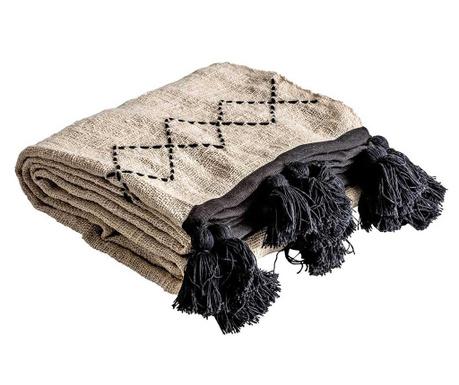 Одеяло Amelie Beige Black 136x240 см