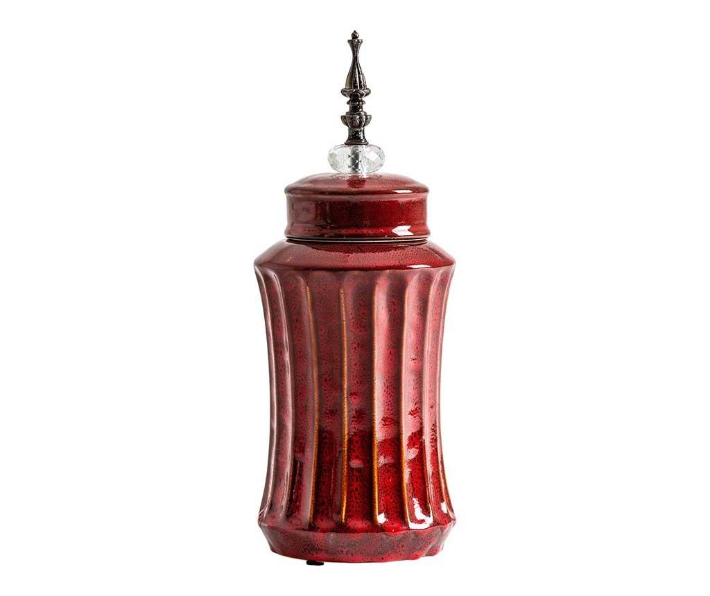 Vas decorativ cu capac Aeneas Large Red