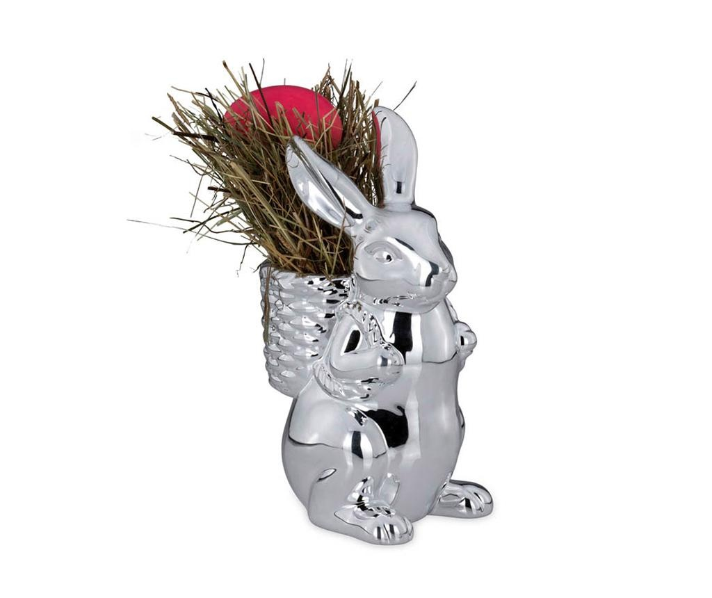 Rabbit with Basket Dísztárgy