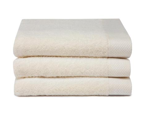 Set 3 kupaonska ručnika Pure Cream 60x110 cm