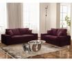 Dasha Bordeaux Háromszemélyes kihúzható kanapé
