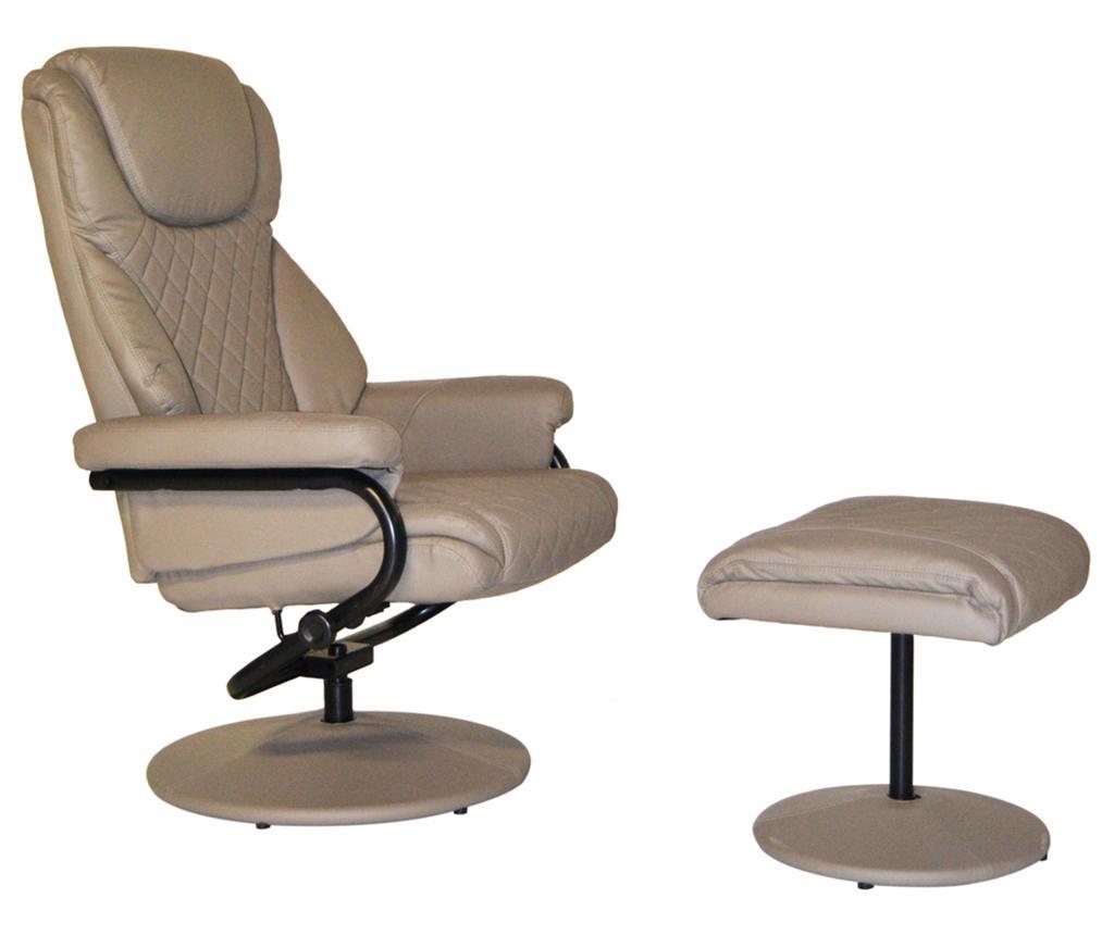 Take it Easy Gray Dönthető fotel és lábzsámoly