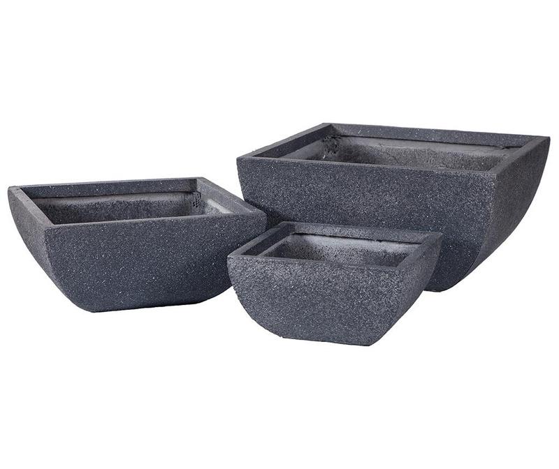 Set 3 suporturi pentru ghiveci Concrete