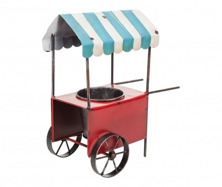 Stojalo za cvetlični lonec Vintage Cart