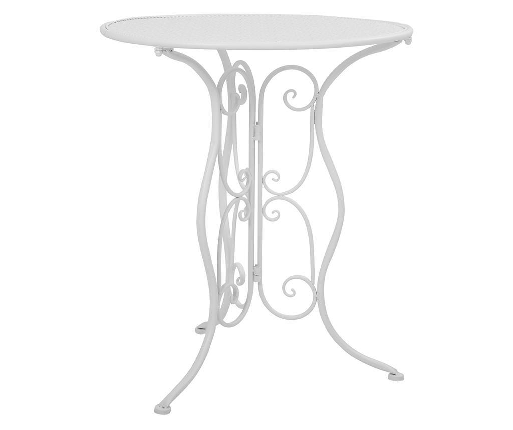 Set masa si 2 scaune pentru exterior Classic Pattern White
