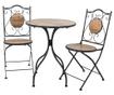 Sada venkovní stůl a 2 židle Wood Pattern