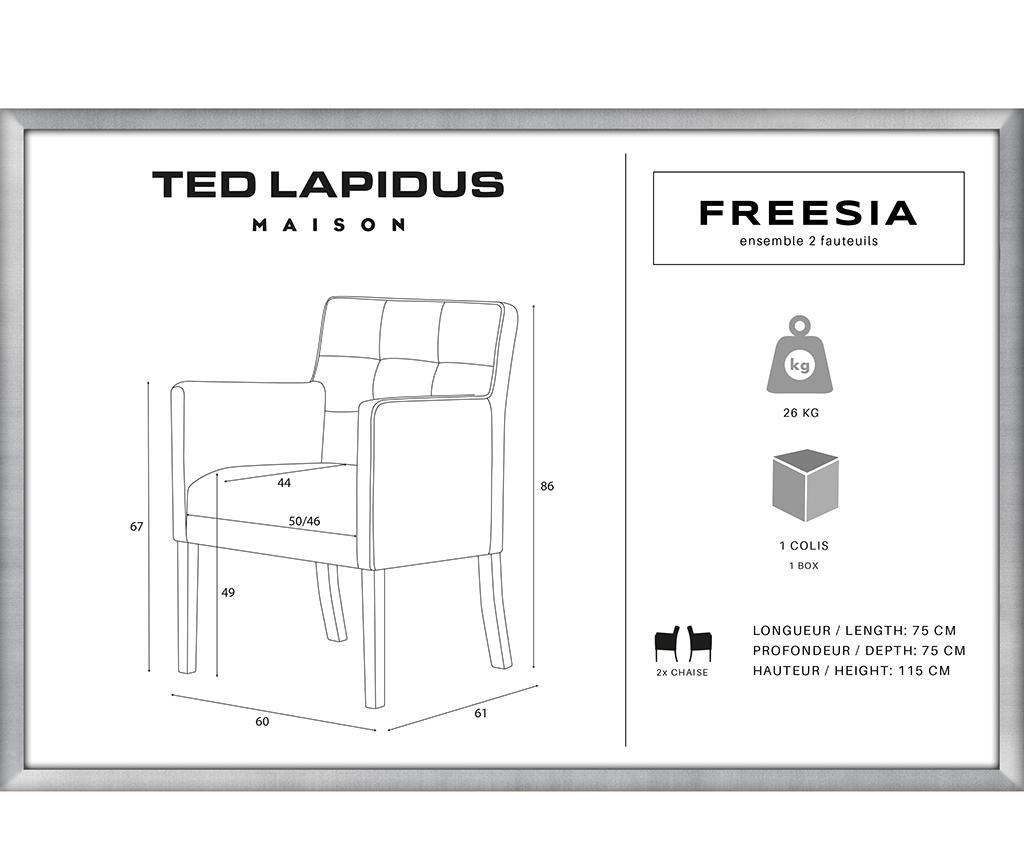 Set 2 scaune Freesia Brown & Anthracite
