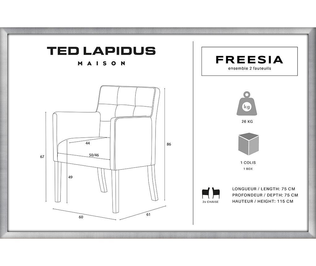Set 2 scaune Freesia Brown & Taupe