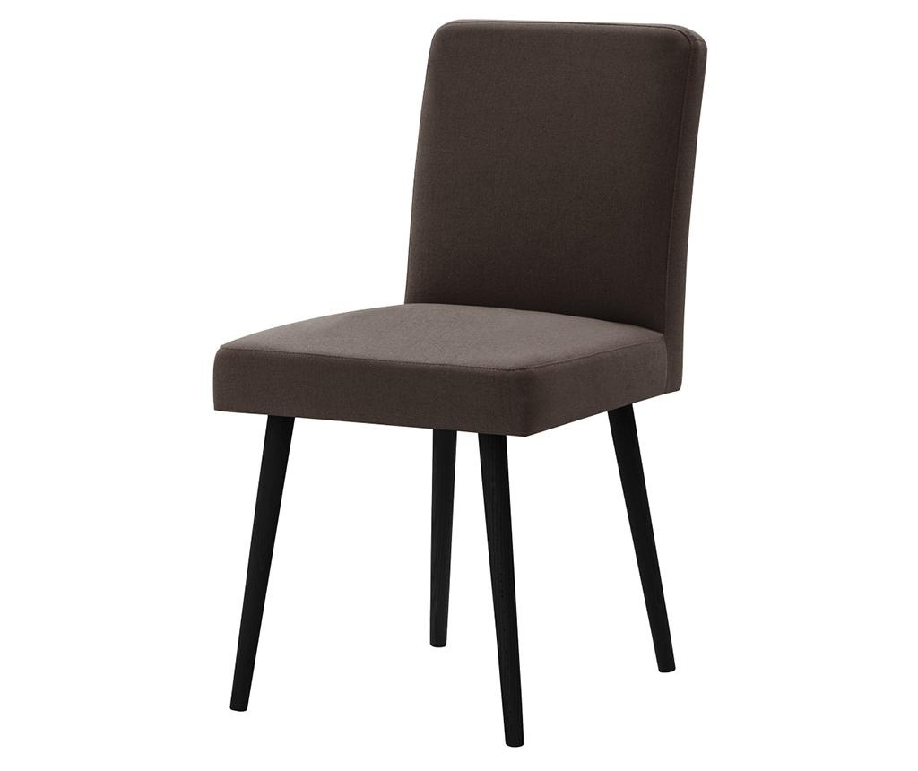Set 2 scaune Fragrance Black & Dark Brown