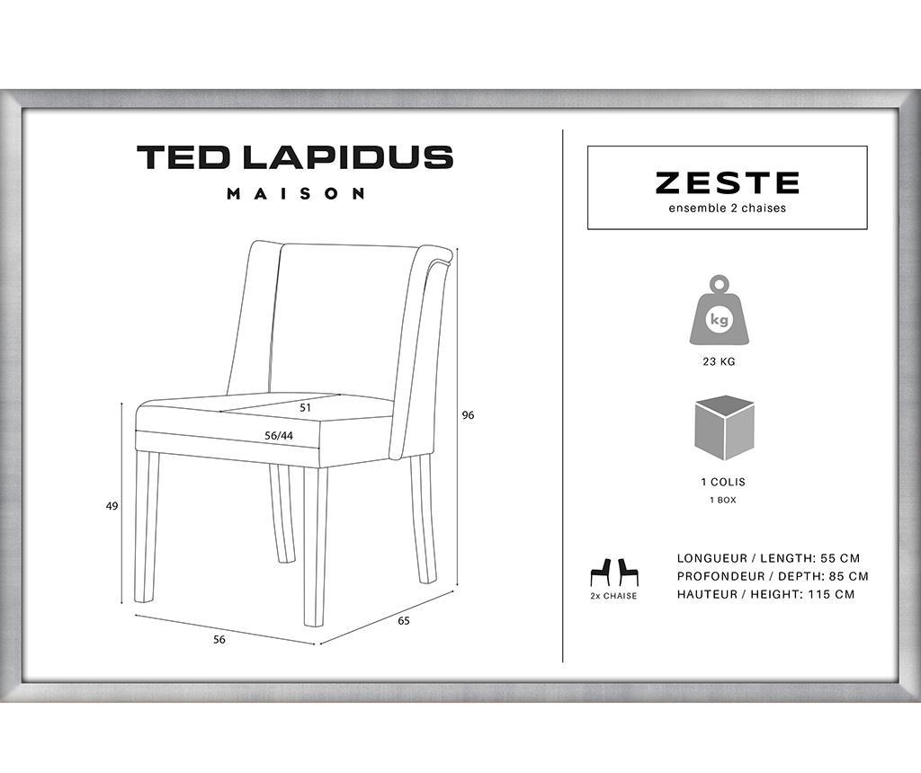 Комплект 2 стола Zeste Black & Dark Taupe