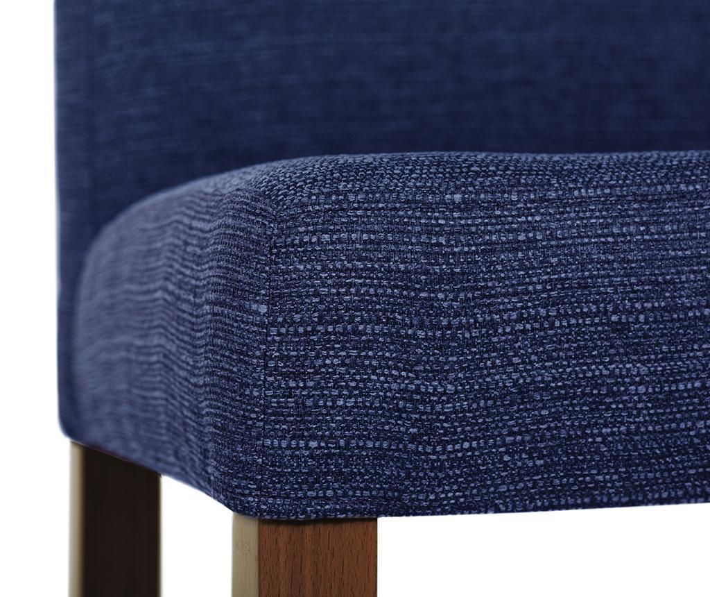 Set 4 scaune Tonka Brown & Ultramarine