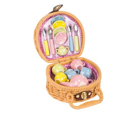 Cos de picnic cu accesorii de jucarie Tea Party