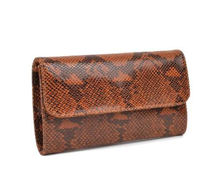 Tσάντα clutch Lizette Cognac