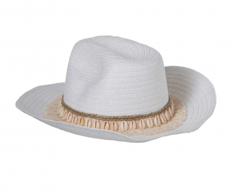 Plážový klobúk Shells Jute