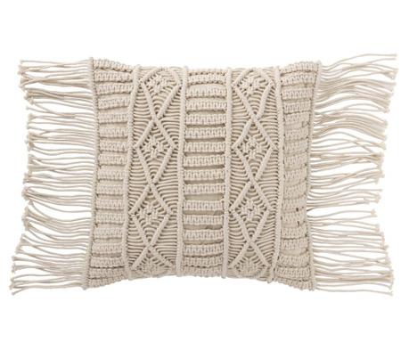 Poduszka dekoracyjna Macrame Cream 45x45 cm