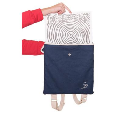 Plecak na płyty winylowe Holds Blue