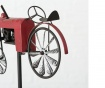 Vrtni ukras Tractor Red