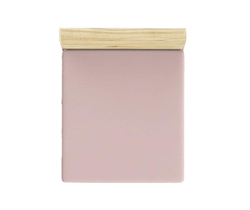 Cearsaf de pat cu elastic Ranforce Basic Dusty Rose 180x200 cm