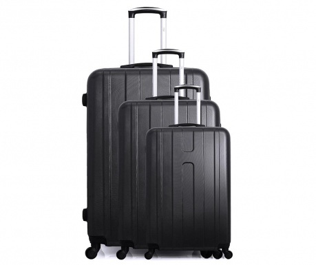 Atlanta 3 db Gurulós bőrönd