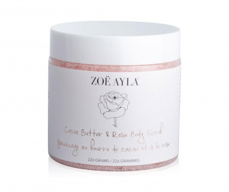 Gel exfoliant pentru corp Cocoa Butter & Rose Body