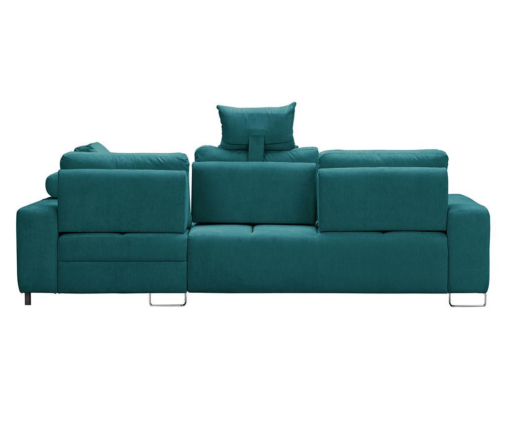 Alpha Turquoise Baloldali  kihúzható sarokkanapé