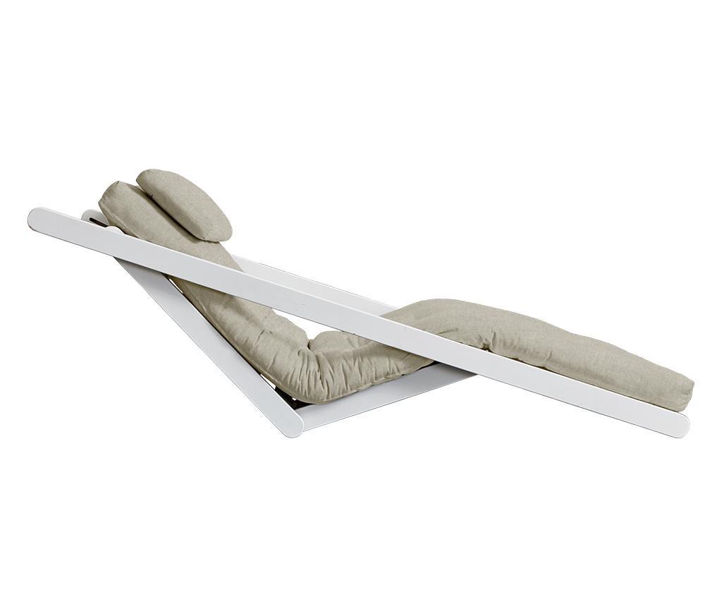 Raztegljiv počivalnik za dnevno sobo Figo White & Linen Half 120x200 cm