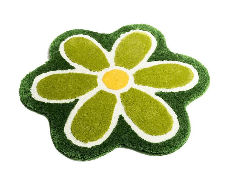 Kupaonski tepih Flower Green 90 cm
