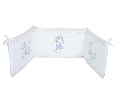 Protectie pentru patut Girls Are Princesses 40x210 cm