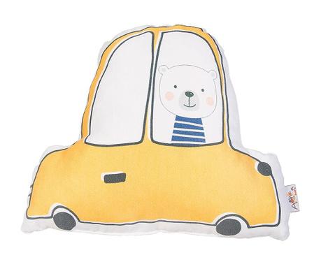 Perna decorativa Car Teddy Yellow 25x30 cm
