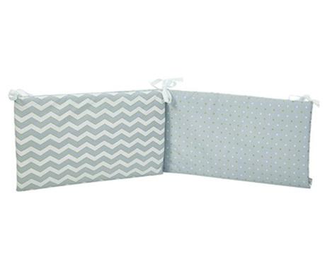 Protectie pentru patut Pattern Grey 40x210 cm