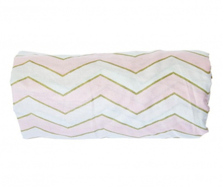 Cearsaf de patut cu elastic ZigZag Pink 70x132 cm