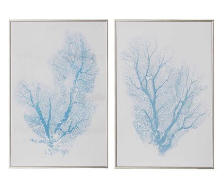 Zestaw 2 obrazów Underwater Floral 30x45 cm