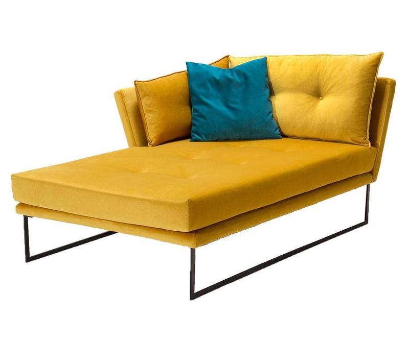 Levi počivalnik za dnevno sobo Relax Mustard Yellow