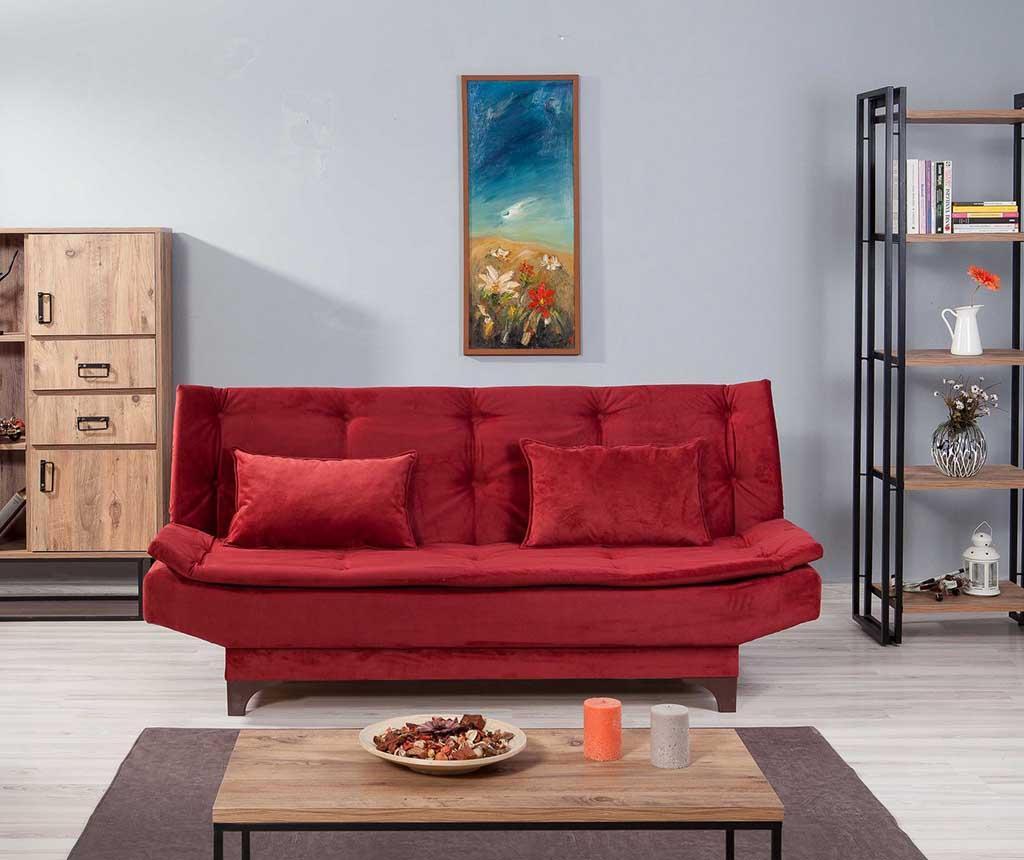Kauč trosjed na razvlačenje Clara Red