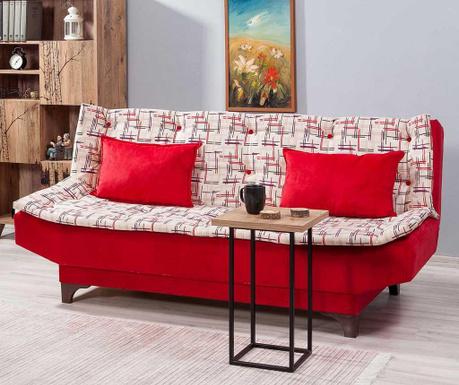 Canapea extensibila 3 locuri Clara Pattern Red