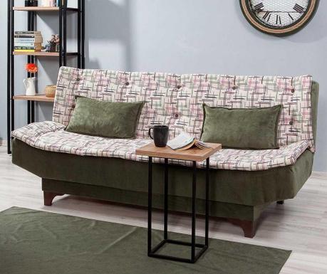 Canapea extensibila 3 locuri Clara Pattern Dark Green