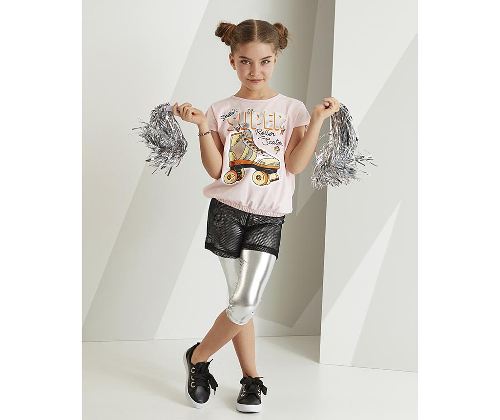 Otroški komplet - majica s kratkimi rokavi in pajkice Roller Skate 6 years