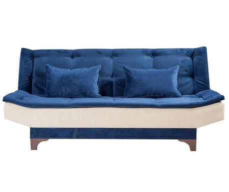 Canapea extensibila 3 locuri Clara Two Blue and Cream