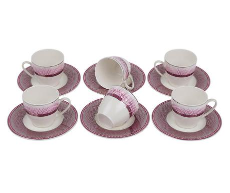 Set 6 cesti si 6 farfurioare Espresso Purple Gradient