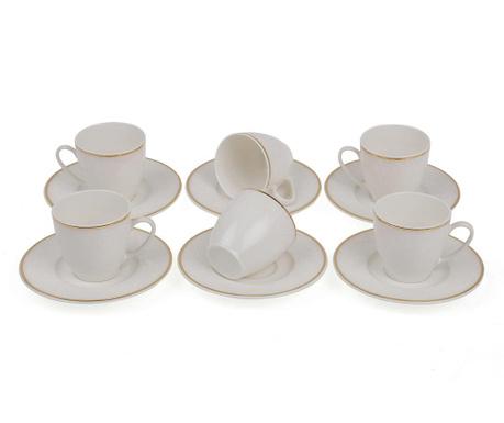 Set 6 cesti si 6 farfurioare Espresso Baroque