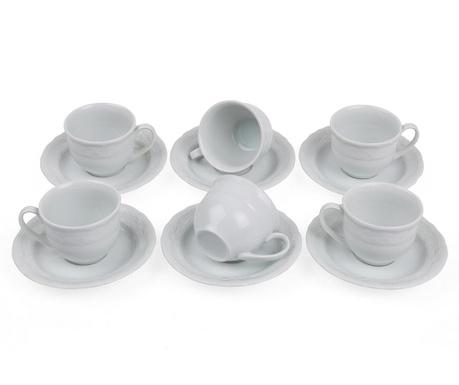 Set 6 cesti si 6 farfurioare Espresso Basic